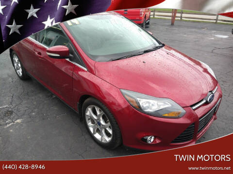 2014 Ford Focus for sale at TWIN MOTORS in Madison OH
