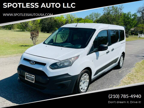 2014 Ford Transit Connect Wagon for sale at SPOTLESS AUTO LLC in San Antonio TX
