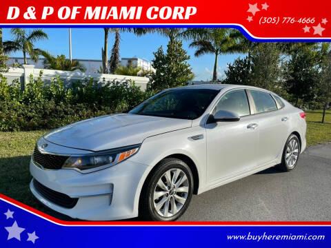 2017 Kia Optima for sale at D & P OF MIAMI CORP in Miami FL