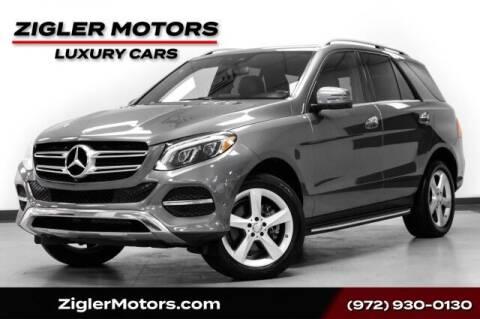 2017 Mercedes-Benz GLE for sale at Zigler Motors in Addison TX