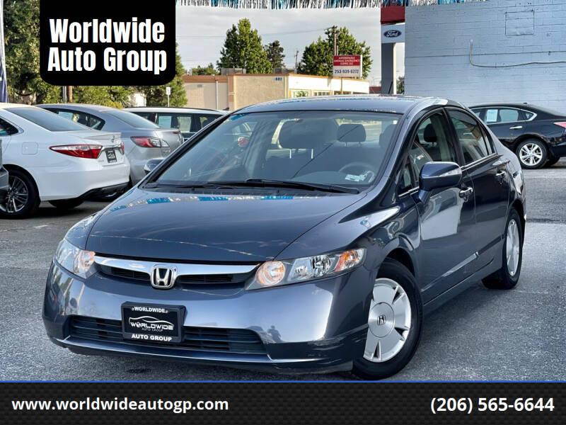 2008 Honda Civic for sale at Worldwide Auto Group in Auburn WA