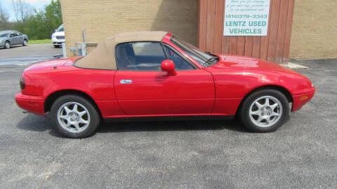 1994 Mazda MX-5 Miata for sale at LENTZ USED VEHICLES INC in Waldo WI