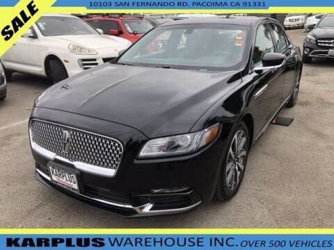 2018 Lincoln Continental for sale at Karplus Warehouse in Pacoima CA