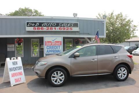2012 Nissan Murano for sale at D & B Auto Sales LLC in Washington MI