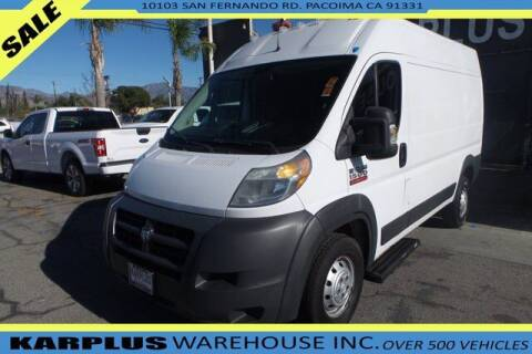2014 RAM ProMaster Cargo for sale at Karplus Warehouse in Pacoima CA