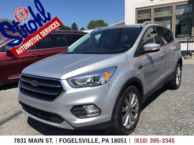 2017 Ford Escape for sale at Strohl Automotive Services in Fogelsville PA