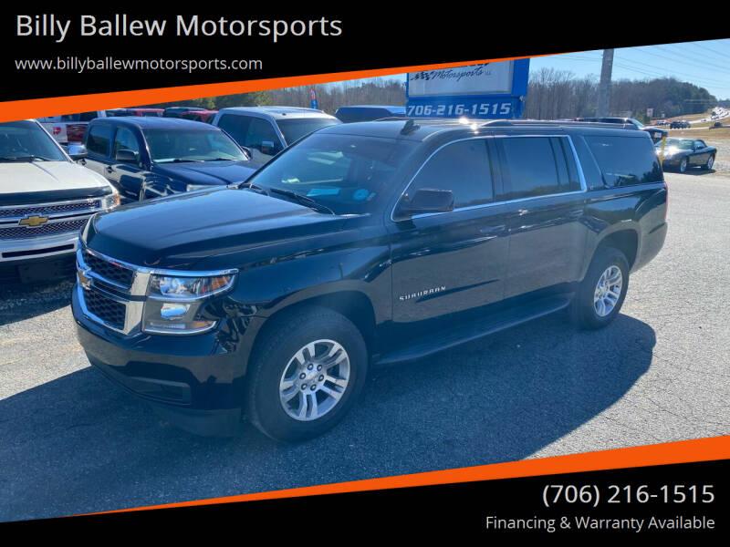 2019 Chevrolet Suburban for sale at Billy Ballew Motorsports in Dawsonville GA