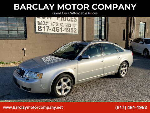 2004 Audi A6 for sale at BARCLAY MOTOR COMPANY in Arlington TX