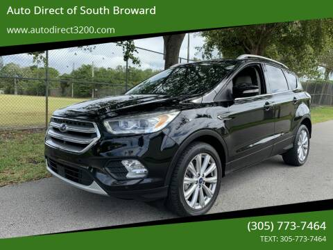 2017 Ford Escape for sale at Auto Direct of South Broward in Miramar FL