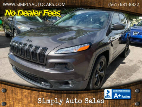 2018 Jeep Cherokee for sale at Simply Auto Sales in Palm Beach Gardens FL