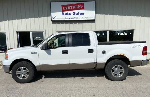 2006 Ford F-150 for sale at Certified Auto Sales in Des Moines IA