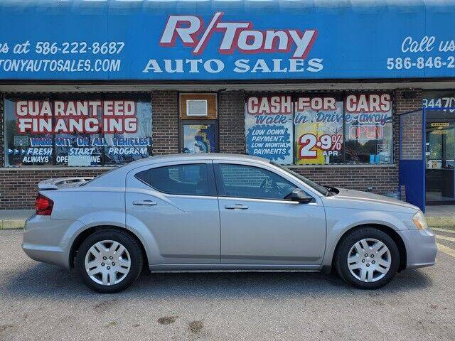 2014 Dodge Avenger for sale at R Tony Auto Sales in Clinton Township MI