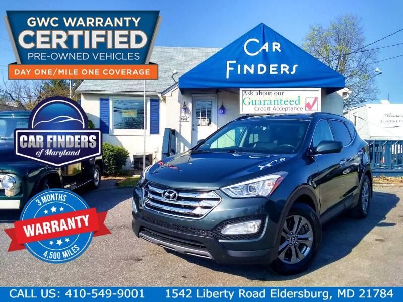 2014 Hyundai Santa Fe Sport for sale at CAR FINDERS OF MARYLAND LLC - Certified Cars in Eldersburg MD