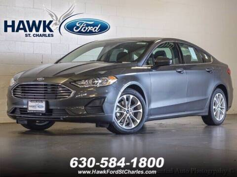 2020 Ford Fusion Hybrid for sale at Hawk Ford of St. Charles in St Charles IL
