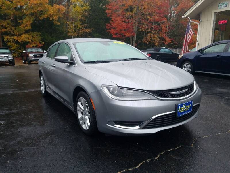 2015 Chrysler 200 for sale at Fairway Auto Sales in Rochester NH