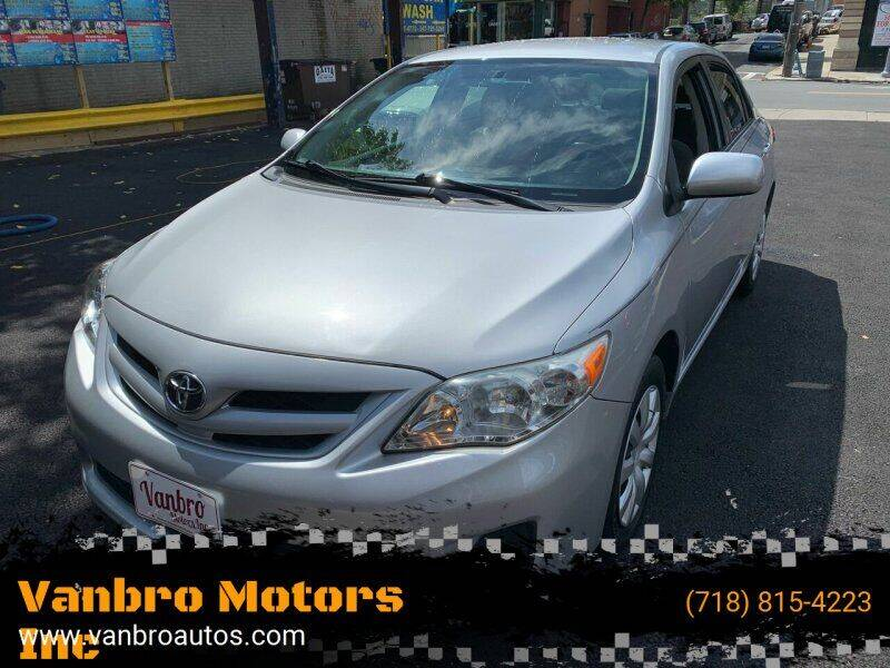 2011 Toyota Corolla for sale at Vanbro Motors Inc in Staten Island NY