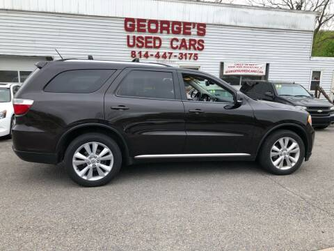 2012 Dodge Durango for sale at George's Used Cars Inc in Orbisonia PA