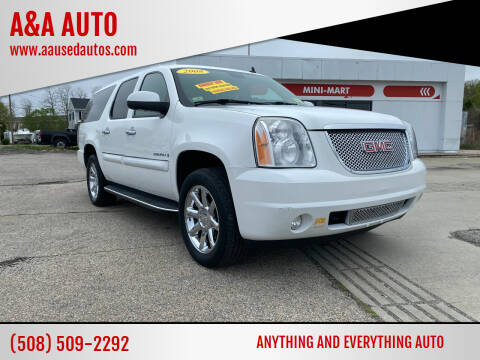 2008 GMC Yukon XL for sale at A&A AUTO in Fairhaven MA