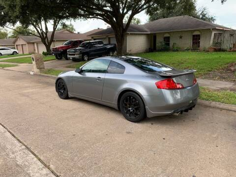 2005 Infiniti G35 for sale at Demetry Automotive in Houston TX