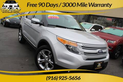 2014 Ford Explorer for sale at West Coast Auto Sales Center in Sacramento CA