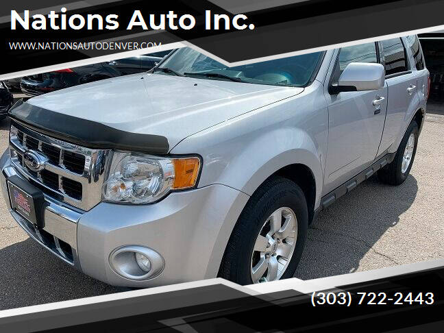 2012 Ford Escape for sale at Nations Auto Inc. in Denver CO
