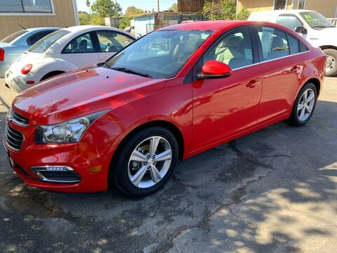 2015 Chevrolet Cruze for sale at Contra Costa Auto Sales in Oakley CA