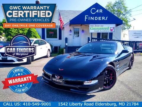 1997 Chevrolet Corvette for sale at CAR FINDERS OF MARYLAND LLC - Certified Cars in Eldersburg MD