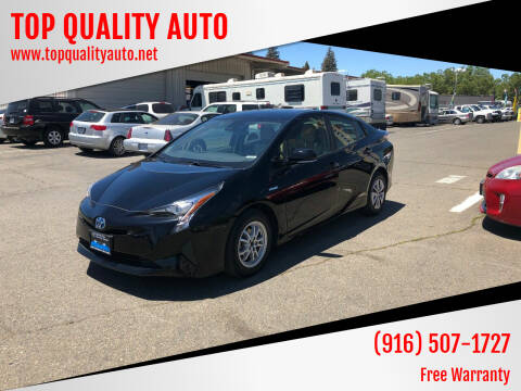 2018 Toyota Prius for sale at TOP QUALITY AUTO in Rancho Cordova CA