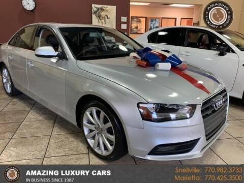 2013 Audi A4 for sale at Amazing Luxury Cars in Snellville GA