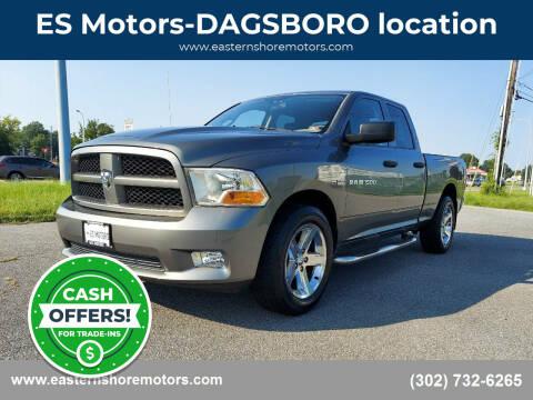 2012 RAM Ram Pickup 1500 for sale at ES Motors-DAGSBORO location in Dagsboro DE