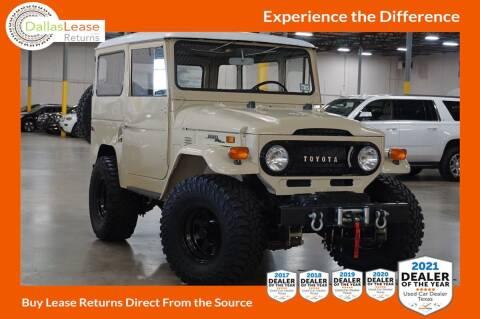 1972 Toyota Land Cruiser for sale at Dallas Auto Finance in Dallas TX
