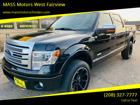 2013 Ford F-150 for sale at MASS Motors West Fairview in Boise ID