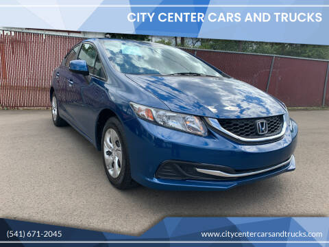 2013 Honda Civic for sale at City Center Cars and Trucks in Roseburg OR