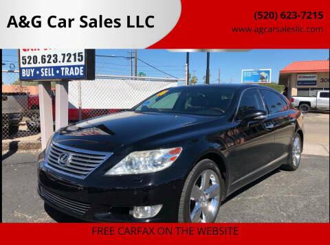 2011 Lexus LS 460 for sale at A&G Car Sales  LLC in Tucson AZ