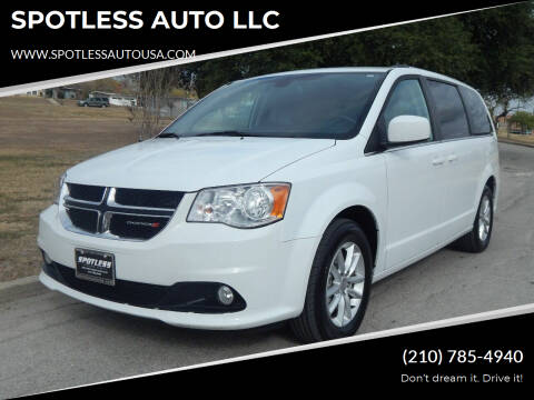 2019 Dodge Grand Caravan for sale at SPOTLESS AUTO LLC in San Antonio TX