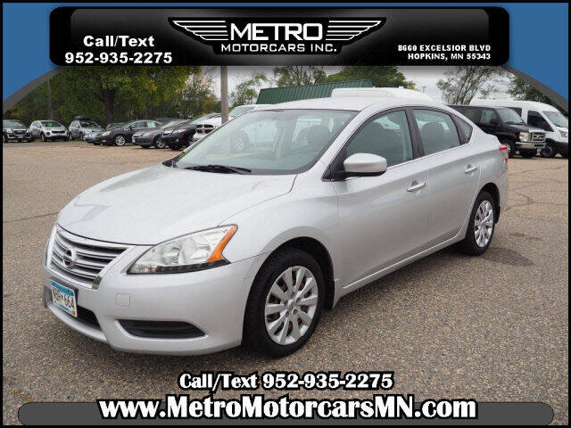 2013 Nissan Sentra for sale at Metro Motorcars Inc in Hopkins MN