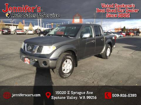 2005 Nissan Frontier for sale at Jennifer's Auto Sales in Spokane Valley WA