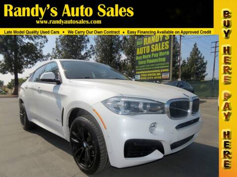 2018 BMW X6 for sale at Randy's Auto Sales in Ontario CA