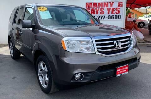 2014 Honda Pilot for sale at Manny G Motors in San Antonio TX