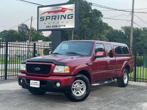 2009 Ford Ranger for sale at Spring Motors in Spring TX
