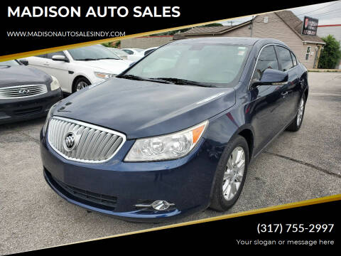 2012 Buick LaCrosse for sale at MADISON AUTO SALES in Indianapolis IN