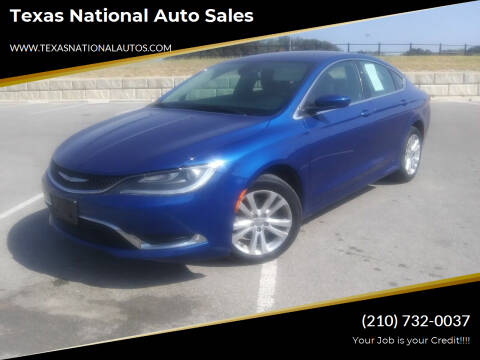 2015 Chrysler 200 for sale at Texas National Auto Sales in San Antonio TX