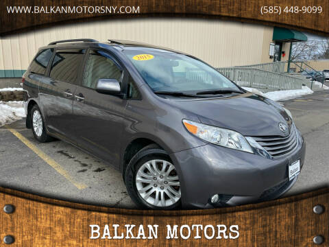 2015 Toyota Sienna for sale at BALKAN MOTORS in East Rochester NY