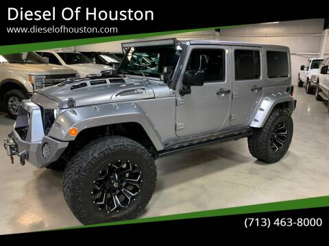 2016 Jeep Wrangler Unlimited for sale at Diesel Of Houston in Houston TX