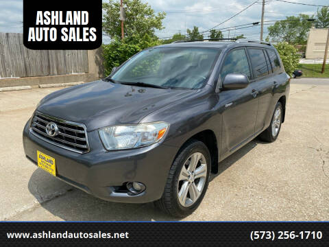 2008 Toyota Highlander for sale at ASHLAND AUTO SALES in Columbia MO