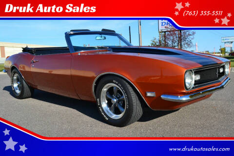 1968 Chevrolet Camaro for sale at Druk Auto Sales in Ramsey MN