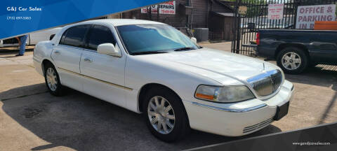 2011 Lincoln Town Car for sale at G&J Car Sales in Houston TX