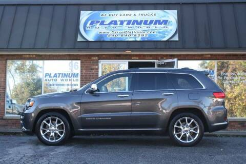 2014 Jeep Grand Cherokee for sale at Platinum Auto World in Fredericksburg VA