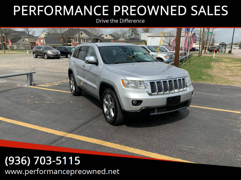 2012 Jeep Grand Cherokee for sale at PERFORMANCE PREOWNED SALES in Conroe TX