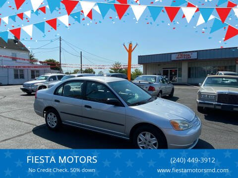 2003 Honda Civic for sale at FIESTA MOTORS in Hagerstown MD